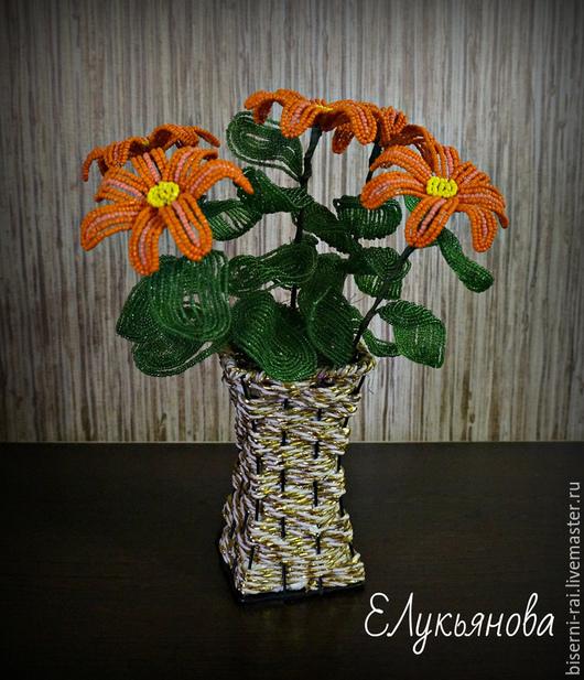 Персональные подарки ручной работы. Ярмарка Мастеров - ручная работа. Купить ромашки. Handmade. Разноцветный, Бисероплетение, бисерные цветы
