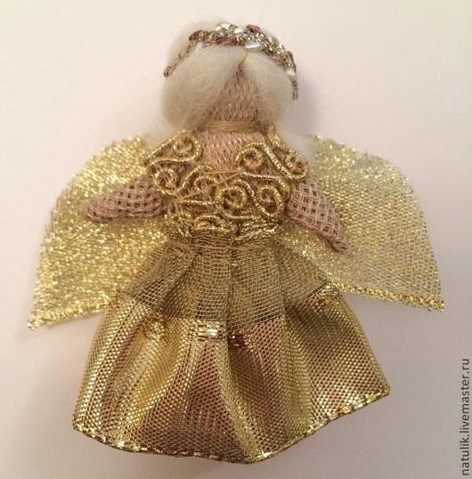брошь Ангел Золотой (готовая работа)