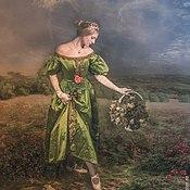Одежда ручной работы. Ярмарка Мастеров - ручная работа Бальное платье Бидермайер. Handmade.