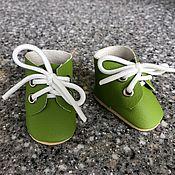 Одежда для кукол ручной работы. Ярмарка Мастеров - ручная работа Кукольные ботиночки из экокожи. Handmade.