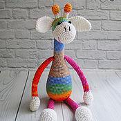 Куклы и игрушки ручной работы. Ярмарка Мастеров - ручная работа Радужный жирафик. Handmade.