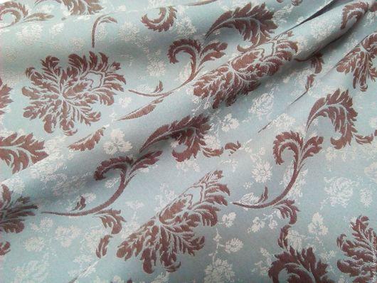Текстиль, ковры ручной работы. Ярмарка Мастеров - ручная работа. Купить Портьерная ткань с классическим рисунком голубого цвета. Handmade.