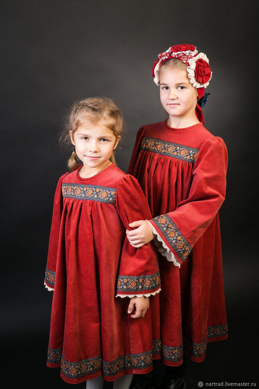 Платье в русском стиле для девочки/русская одежда, Народные костюмы, Анапа,  Фото №1