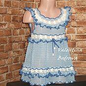 Работы для детей, handmade. Livemaster - original item Dress crochet for girls.. Handmade.