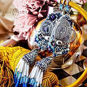 Украшения handmade. Livemaster - original item Butterfly earrings with tassels. Earrings Cornflower meadow. Handmade.