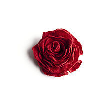 Украшения handmade. Livemaster - original item Red rose. Brooch made of felt.. Handmade.