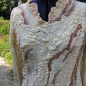 Одежда ручной работы. Ярмарка Мастеров - ручная работа Валяная туника на шелке Lara. Handmade.