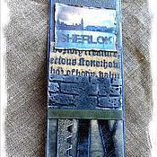 """Канцелярские товары ручной работы. Ярмарка Мастеров - ручная работа Закладка из коллекции  """"Шерлок и Лондон"""" (№ 4). Handmade."""