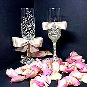Свадебный салон ручной работы. Ярмарка Мастеров - ручная работа Свадебные бокалы Айвори. Handmade.