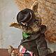 Мишки Тедди ручной работы. Ярмарка Мастеров - ручная работа. Купить Валерьяныч или пьянству бой!!). Handmade. Серый, кошка