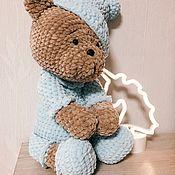 Мягкие игрушки ручной работы. Ярмарка Мастеров - ручная работа Зефирные мишки в пижаме. Handmade.