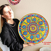 Картины и панно handmade. Livemaster - original item Large plate on the wall of the Mandala