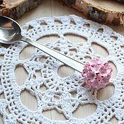 Посуда ручной работы. Ярмарка Мастеров - ручная работа ложечка с цветочным шаром. Handmade.