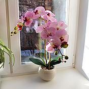 Цветы и флористика ручной работы. Ярмарка Мастеров - ручная работа Орхидея розовая. Handmade.