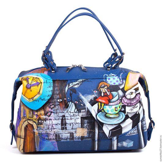 Женские сумки ручной работы. Ярмарка Мастеров - ручная работа. Купить Сказка про Алису. Handmade. Тёмно-синий, сказка