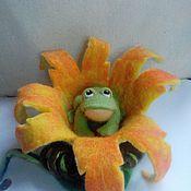 Куклы и игрушки ручной работы. Ярмарка Мастеров - ручная работа Лягушонок в цветке. Handmade.
