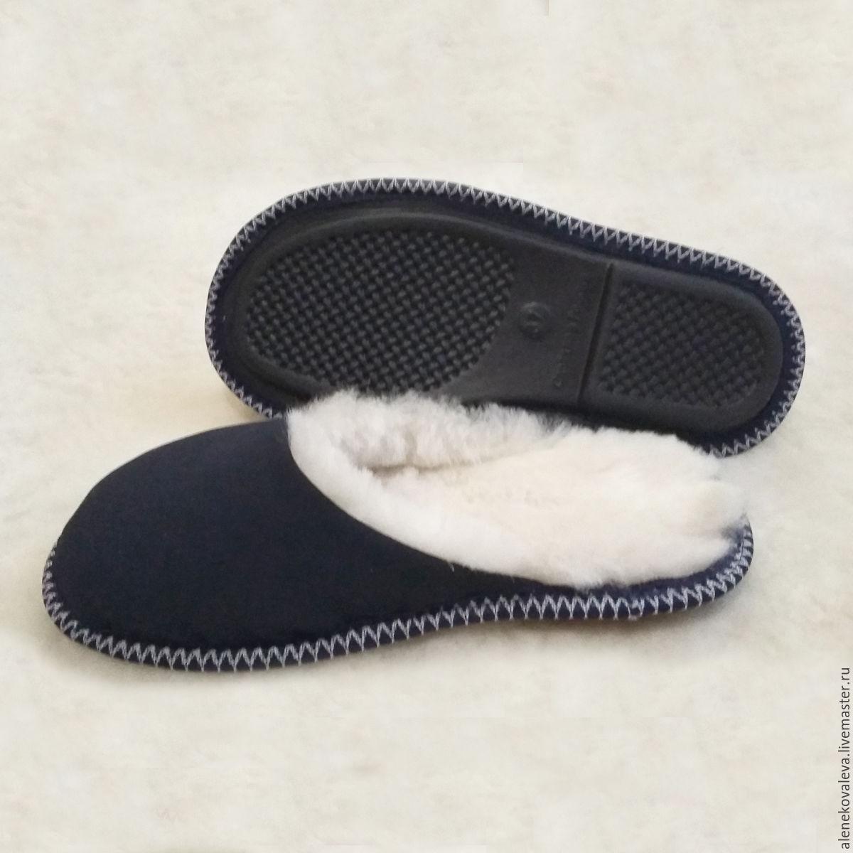 8376c698f93f0 Обувь ручной работы. Ярмарка Мастеров - ручная работа. Купить Домашние  тапочки из овчины.