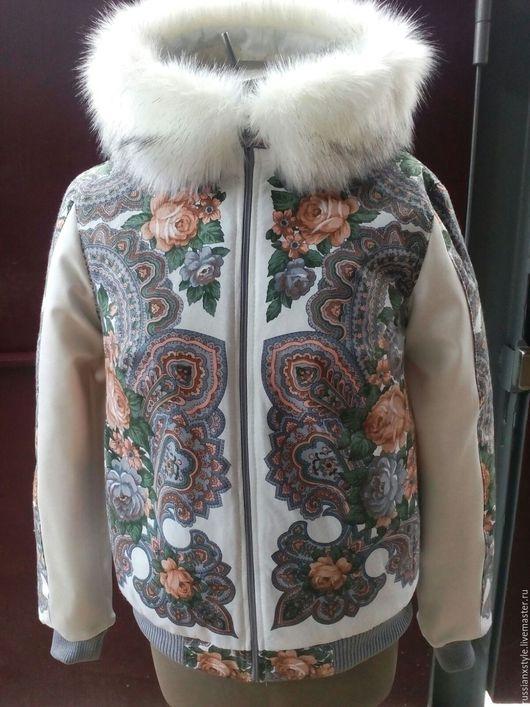 Верхняя одежда ручной работы. Ярмарка Мастеров - ручная работа. Купить Куртка с воротником стойкой. Handmade. Комбинированный, овчина
