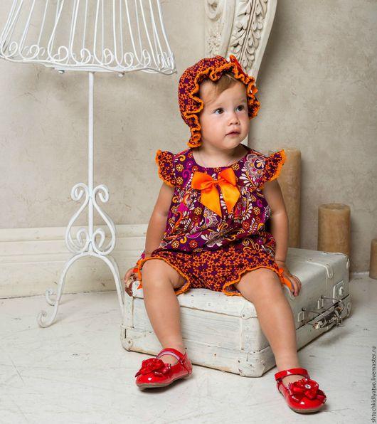 Одежда для девочек, ручной работы. Ярмарка Мастеров - ручная работа. Купить Яркий комплект для малышки. Handmade. Комбинированный, комплект для малышки
