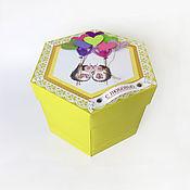 """Подарки на 8 марта ручной работы. Ярмарка Мастеров - ручная работа Подарки на 8 марта: фотоальбом """"Шестиугольник"""". Handmade."""