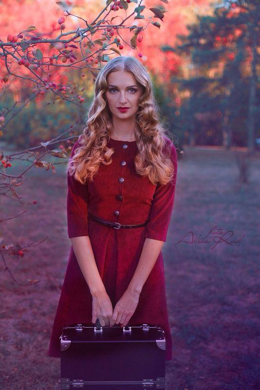 Платья ручной работы. Ярмарка Мастеров - ручная работа. Купить Платье из вельвета 17/1. Handmade. Платье, винный, нарядное платье