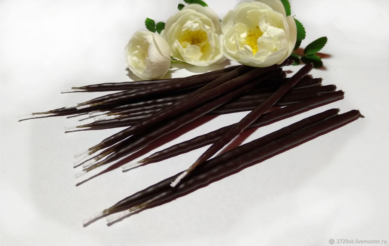 Свечи маканые черные 50 шт – купить на Ярмарке Мастеров – HUU3DRU | Ритуальная свеча, Смоленск