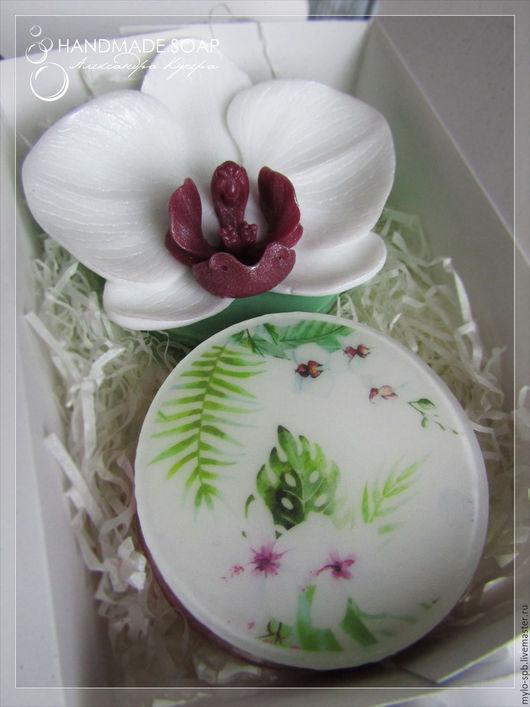 """Подарочные наборы косметики ручной работы. Ярмарка Мастеров - ручная работа. Купить Подарочный набор """"Орхидея"""", мыло ручной работы. Handmade."""
