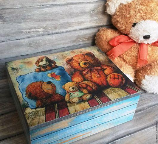 """Детская ручной работы. Ярмарка Мастеров - ручная работа. Купить """"Мишки тедди"""". Handmade. Комбинированный, детская, кубик, дети"""