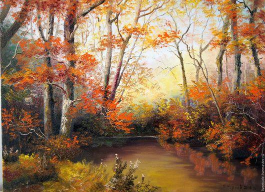 Свежая осень,яркая... пейзаж,купить картину маслом,картина, картины, картины маслом, масло, живопись маслом,  выбор картин, где купить картину, картина, картина маслом, картина в подарок