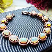Украшения handmade. Livemaster - original item Gold plated bracelet