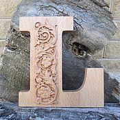 Для дома и интерьера ручной работы. Ярмарка Мастеров - ручная работа Буквы интерьерные деревянные, английский алфавит. Handmade.