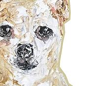 Картины и панно ручной работы. Ярмарка Мастеров - ручная работа Собака Чихуахуа портрет собаки на заказ, картина с собакой.. Handmade.