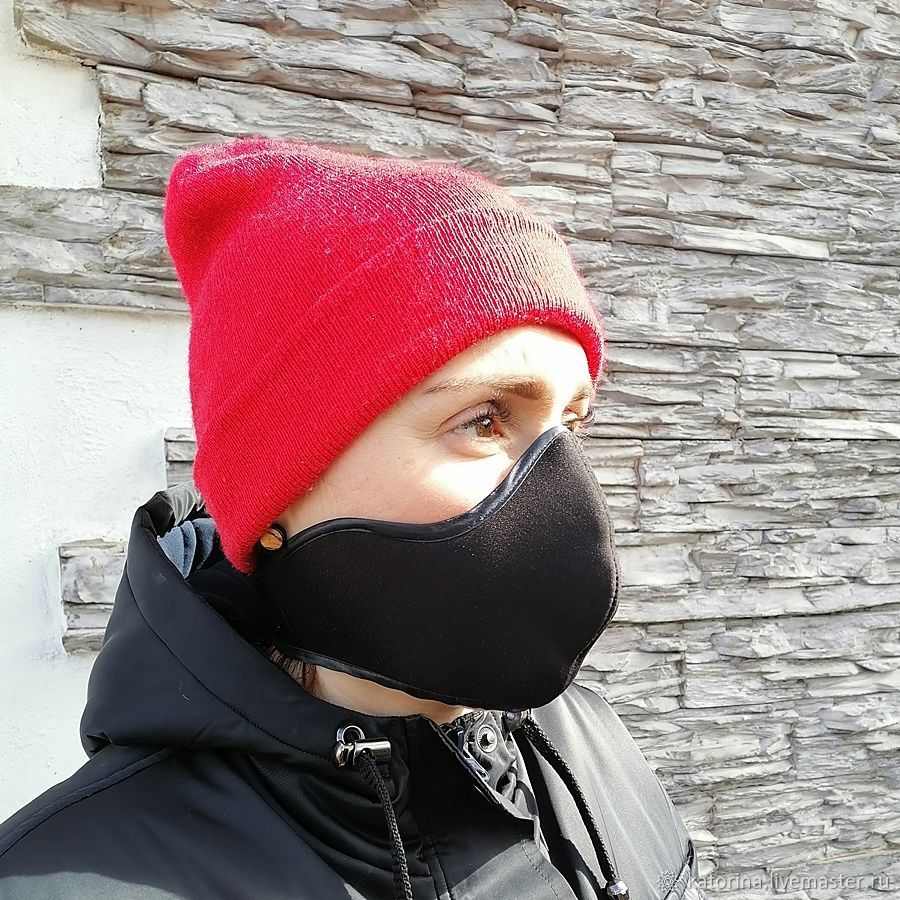 Protective mask: Protective mask black and white unisex, Protective masks, Moscow,  Фото №1