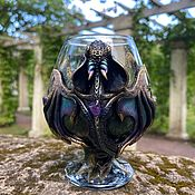Посуда handmade. Livemaster - original item Cognac glass with amethyst for men a dream gift. Handmade.