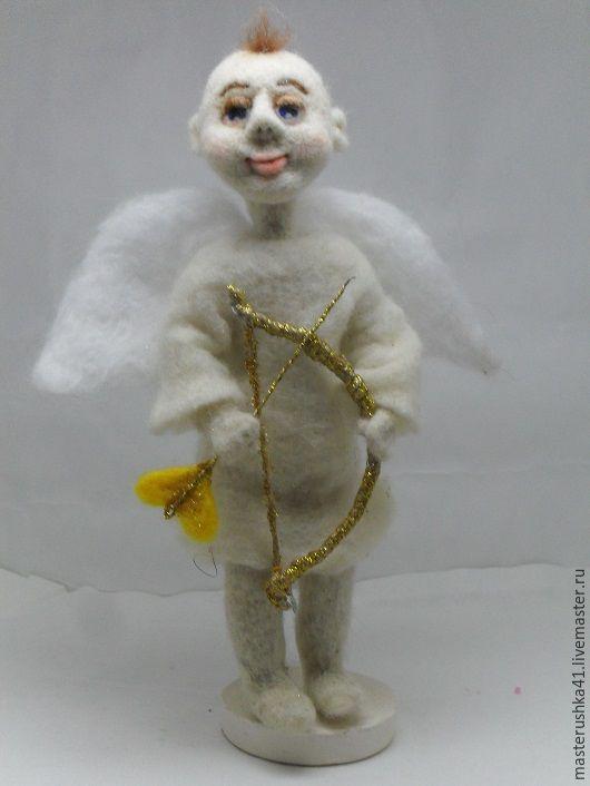 Статуэтки ручной работы. Ярмарка Мастеров - ручная работа. Купить Ангелочек амурчик. Handmade. Белый, амурчик, стрела, крылья ангела