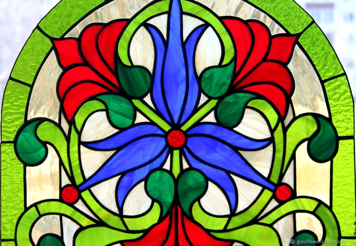 Stained Glass Tiffany. stained glass window in the door. Floral stained glass window, Stained glass, St. Petersburg,  Фото №1