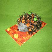 Куклы и игрушки ручной работы. Ярмарка Мастеров - ручная работа Ежик из физалиса. Handmade.
