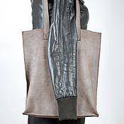 Сумки и аксессуары ручной работы. Ярмарка Мастеров - ручная работа Большая кожаная сумка. Handmade.