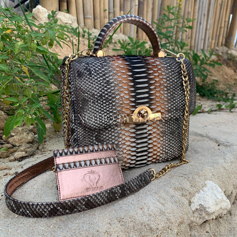 Elegant Python leather handbag, Classic Bag, Moscow,  Фото №1