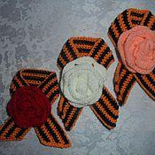 Подарки к праздникам ручной работы. Ярмарка Мастеров - ручная работа георгиевская лента - брошь. Handmade.