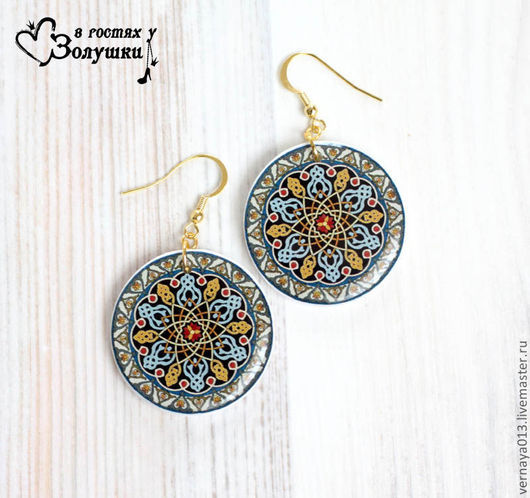 Earrings handmade. Livemaster - handmade. Buy Earrings 'Ethnic'.Earrings, africa, earrings ethnic, earrings pattern, kaleidoscope, polymer clay