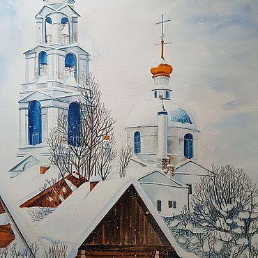 Картины и панно ручной работы. Ярмарка Мастеров - ручная работа Русский пейзаж. Handmade.