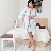 Одежда handmade. Livemaster - original item Bathrobes: Robe-kimono HEART. Handmade.