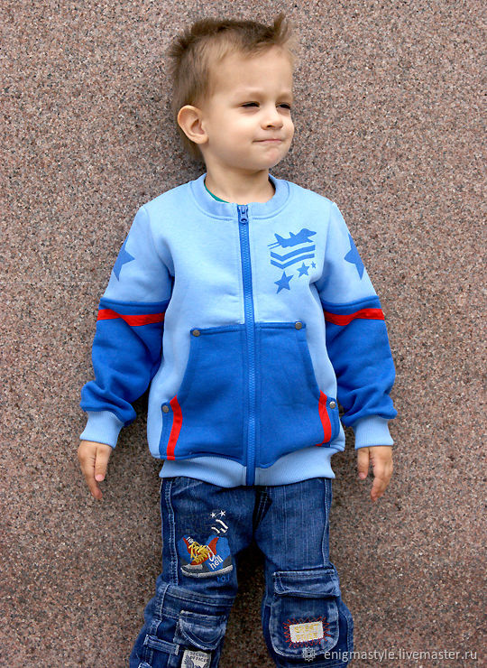Blue hoodie for boy Airplane, children's hoodie with zipper, Sweater Jackets, Novosibirsk,  Фото №1