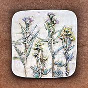 Картины и панно handmade. Livemaster - original item Flowers Botanical Gypsum panels. Handmade.