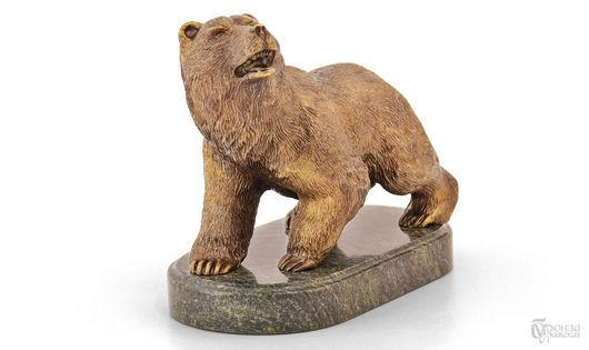 Статуэтки ручной работы. Ярмарка Мастеров - ручная работа. Купить Медведь №2. Handmade. Медведь, статуэтки из металла, скульптура из бронзы