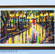 Для дома и интерьера handmade. Livemaster - original item Glass painting on the wall, fusing