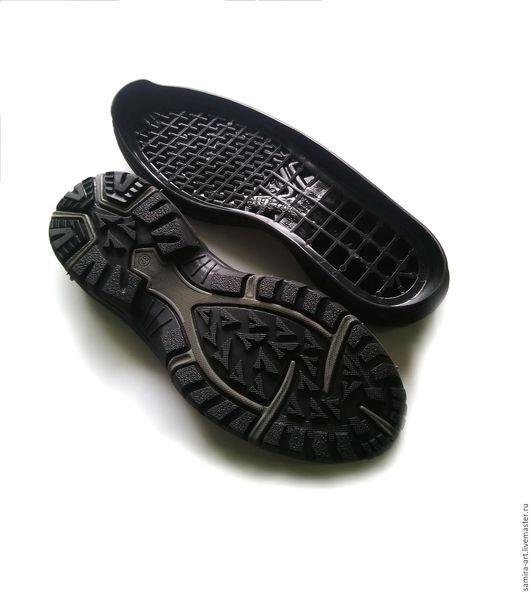 """Валяние ручной работы. Ярмарка Мастеров - ручная работа. Купить Подошва подростковая """"PENALTY"""". Handmade. Черный, обувь ручной работы"""