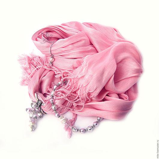 """Шарфы и шарфики ручной работы. Ярмарка Мастеров - ручная работа. Купить Шарф - колье """"Для принцессы"""" с кулоном и браслетом. Handmade."""