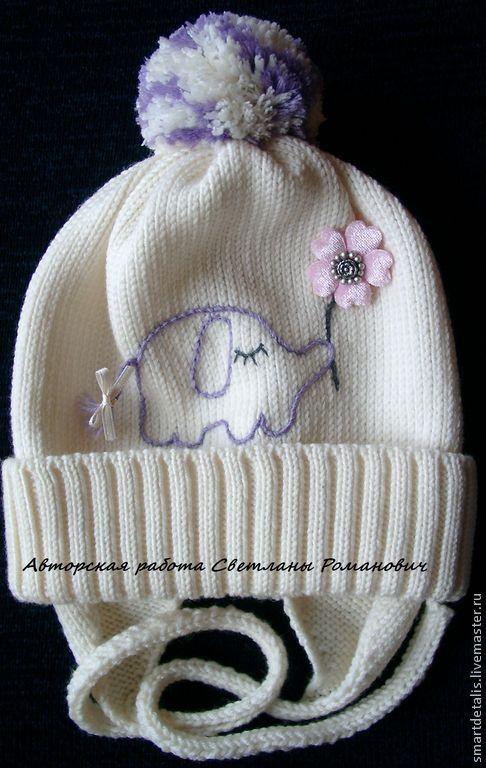 Шапки и шарфы ручной работы. Ярмарка Мастеров - ручная работа. Купить Мериносовая шапочка для девочки. Handmade. Белый, шапки